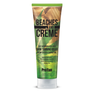 Beaches And Crème Fast Absorbing Ultra Rich Dark Tanning Gelèe Hemp Seed & Carrot Oil