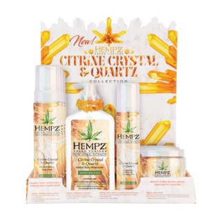 HEMPZ® FRESH FUSIONS CITRINE CRYSTAL & QUARTZ DISPLAY