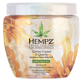 Hempz® Fresh Fusions Citrine Crystal & Quartz Exfoliating Herbal Body Buff