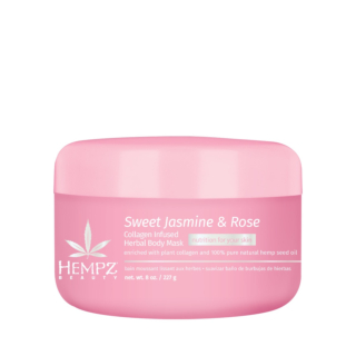 HEMPZ® SWEET JASMINE & ROSE COLLAGEN INFUSED HERBAL BODY MASK