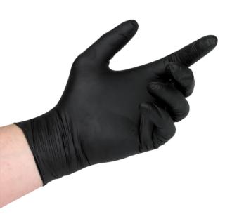 Black Nitrile Powder Free Gloves